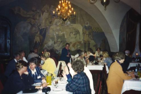 Fælles middag med Vilnius Zontians i flotte omgivelser.